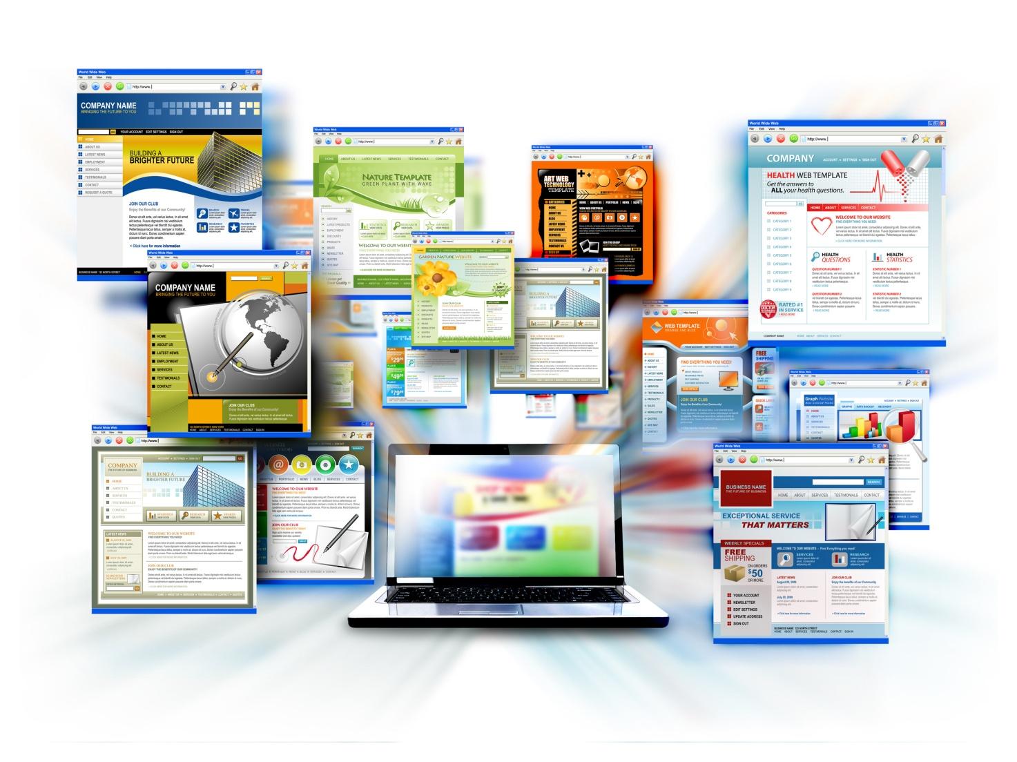 Типы дизайна сайтов